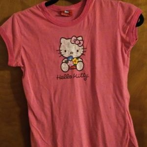 Pink Hello Kitty muscle tee